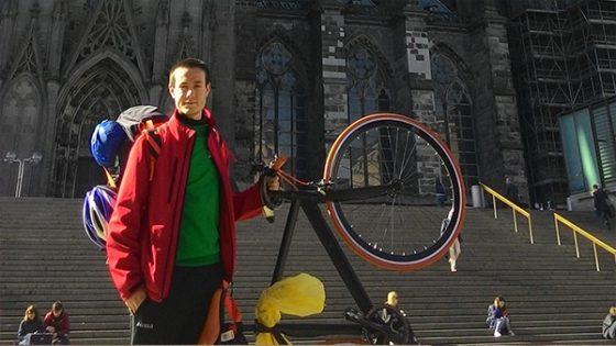 colonia primo viaggio koln cattedrale bici scatto fisso fixed germania