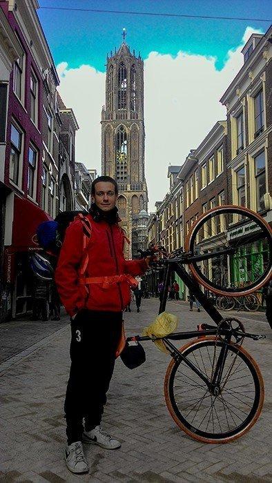 duomo utrecht san martino bicicletta scatto fisso viaggiare in bici cicloturismo