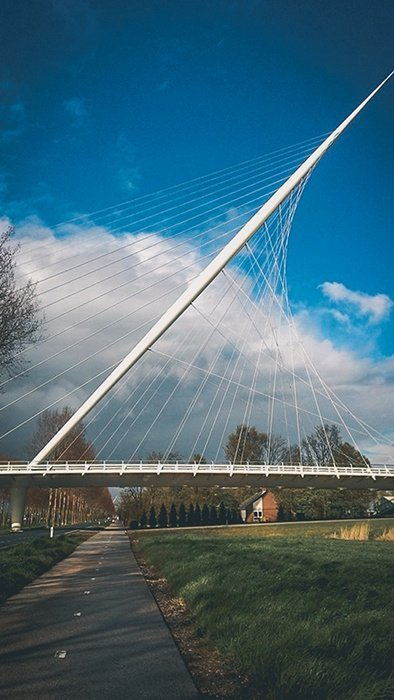 ponte ciclabile olanda paesi bassi olanda architettura moderna viaggiare in bicicletta cicloturismo