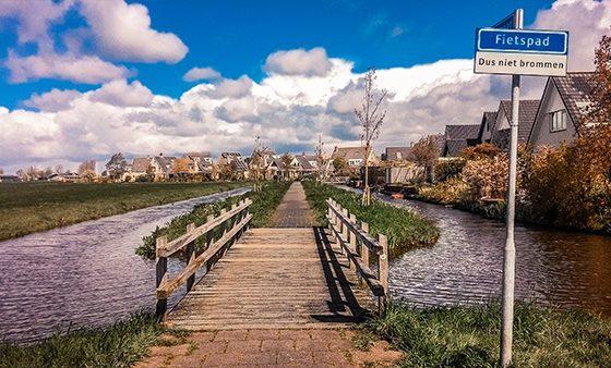 poulders villette olanda campagna ciclabile area pedonale città senza macchine fietspad
