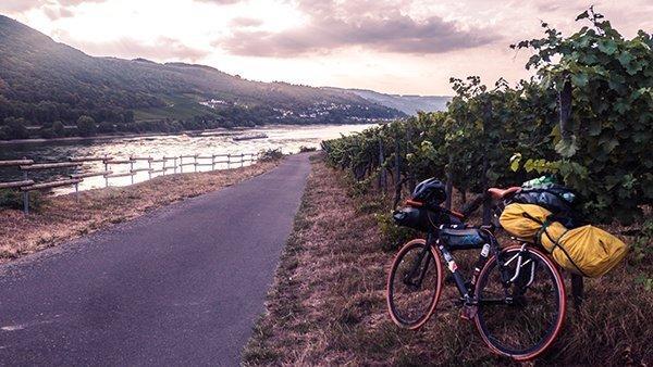 coblenza fiume reno ciclabile vigneti vigne viaggiare in bicicletta