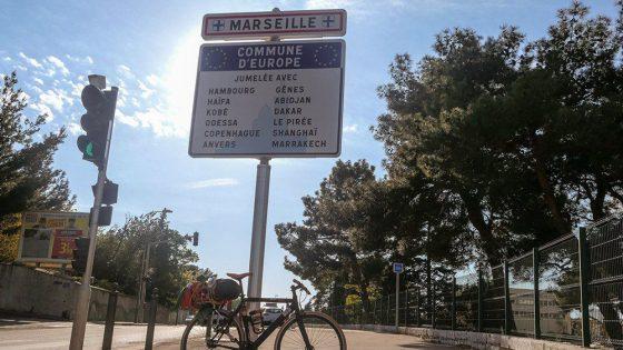 cartello marseille bicicletta