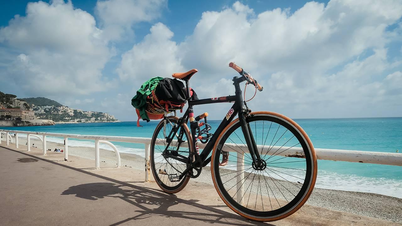 costa azzurra in bicicletta nizza